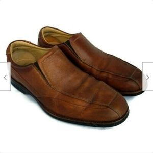Johnston & Murphy brown leather casual loafers